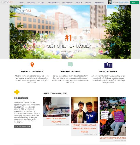 Screenshot_CarpeDM Home Page